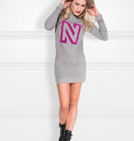 Nikkie N Logo Flock Sweatdress N5-5391805