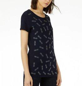 Liu Jo T-Shirt Moda M/C Strass Logo W19423J5003