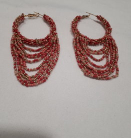 About accessories Oorbellen met roze kralen