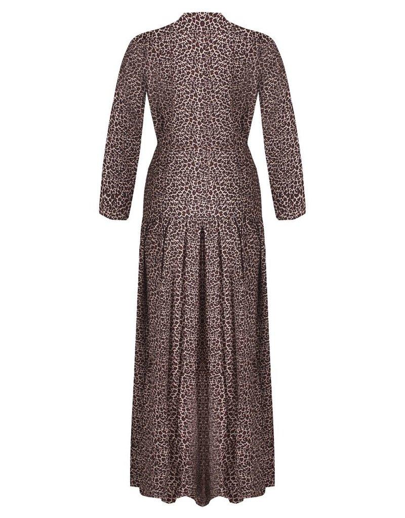 Miss Miss   Brown Spotted Maxi Dress CFC0042057004
