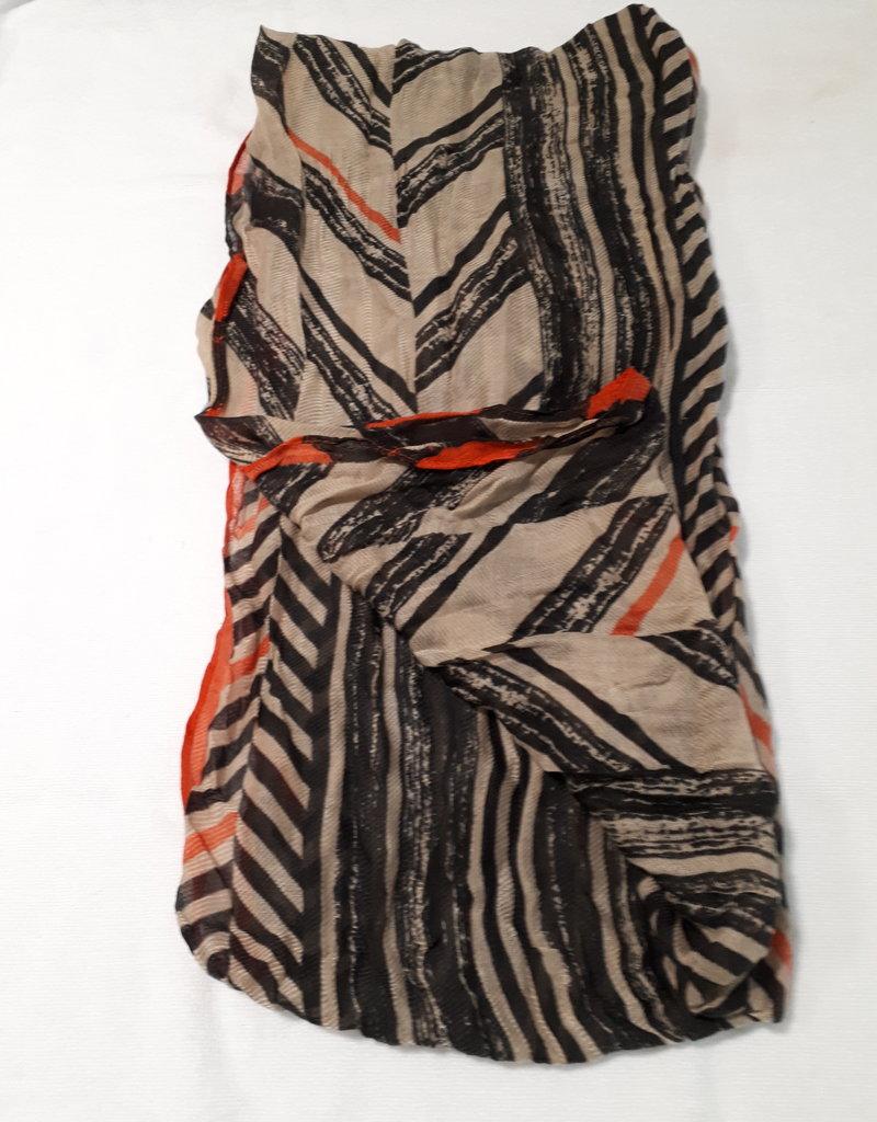 About accessories Dames Sjaal Oranje Gestreept 70 x 180 cm