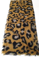 About accessories Ladies Scarf Ocher yellow with Print 70 x 180 cm