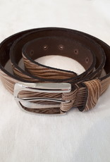 About accessories  Belt Zebra print Brown