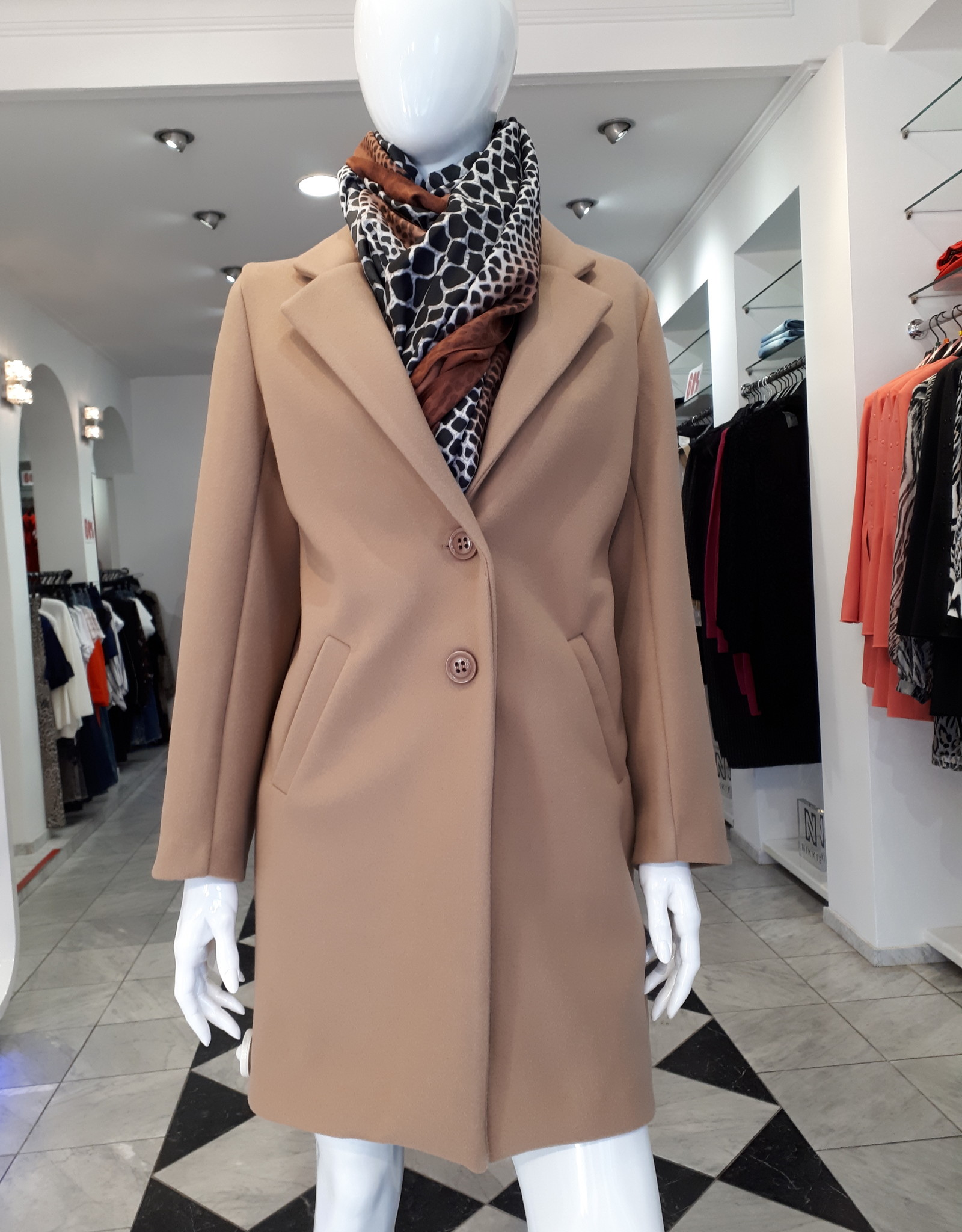Miss Miss Jas Cappotto Camel CFC004249004