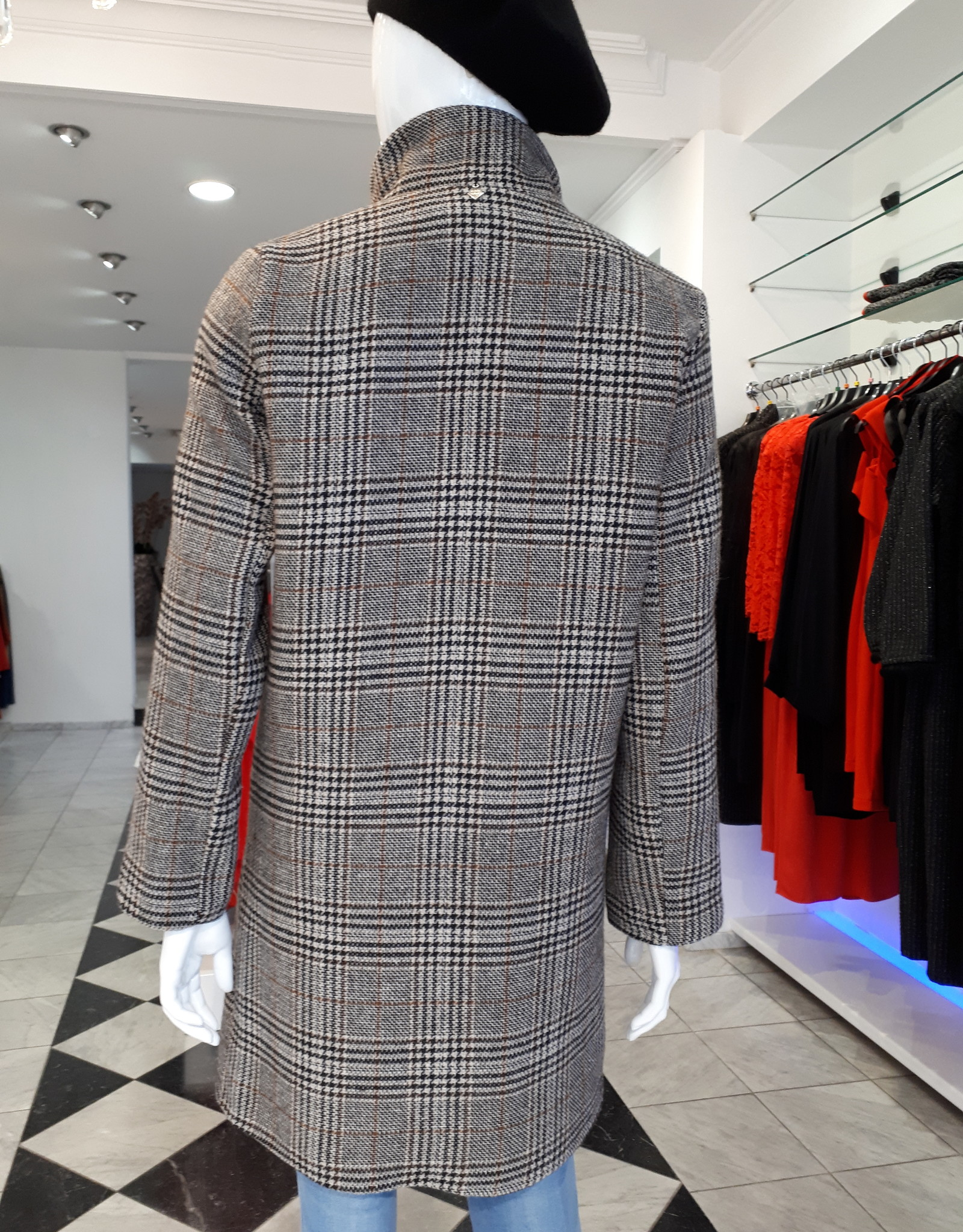Miss Miss Checkered Coat CFC0042481004