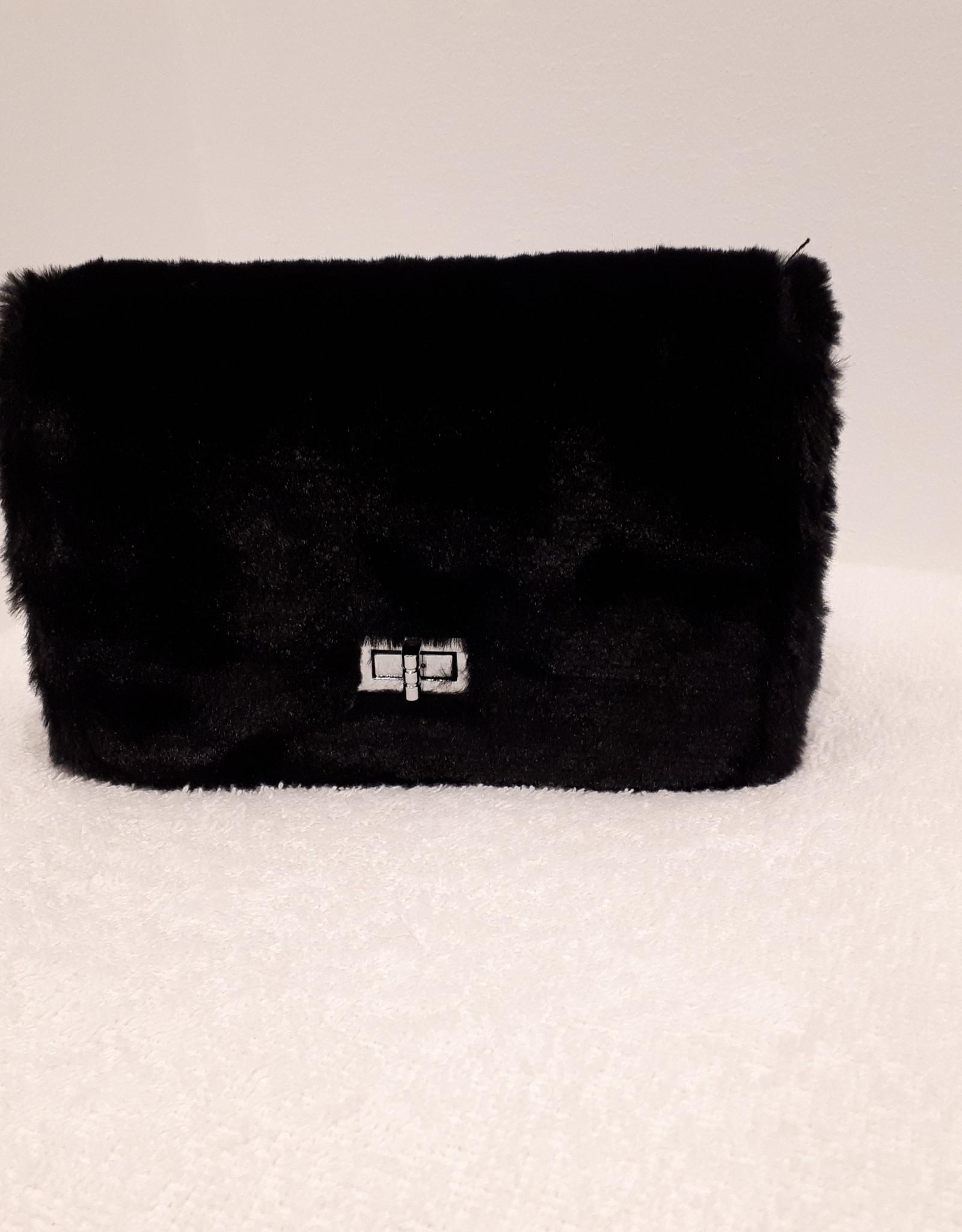 About accessories Dames Tas Zwart met Bont