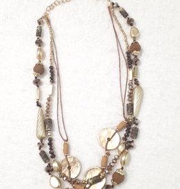 About accessories Ketting met Goud en Bruin