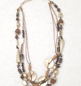 About accessories Necklace with Gold and Brown