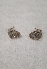 About accessories Ear Studs Gold with Stones
