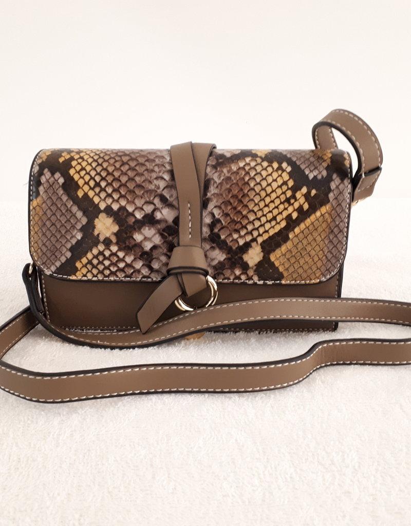 About accessories Dames Tas Bruin met Print