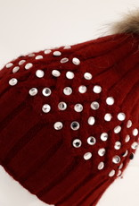 Cap red with stones