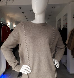 Ribbed Taupe Sweater