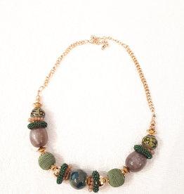 About accessories Ketting met Groene Kralen