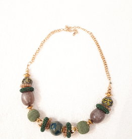 About accessories Necklace with green beads