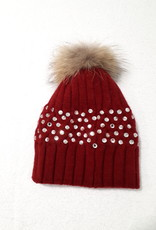 About accessories Muts Rood met Steentjes