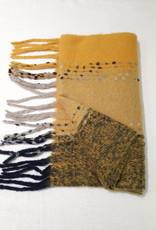 About accessories Dames Sjaal Geel met Franjes