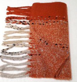 About accessories Dames Sjaal Oranje met Franjes