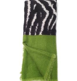 About accessories Dames Sjaal in de kleuren Groen Zwart Grijs 70 x 180 cm