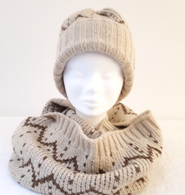 About accessories Ladies Knitted Cap with Golden Lurex thread