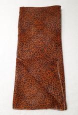 About accessories Dames Sjaal Bruin  Brons met Panterprint 70 x 180 cm