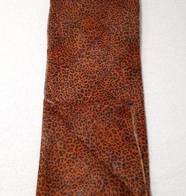 About accessories Sjaal Oranje Bruin met Panterprint 70 x 180 cm