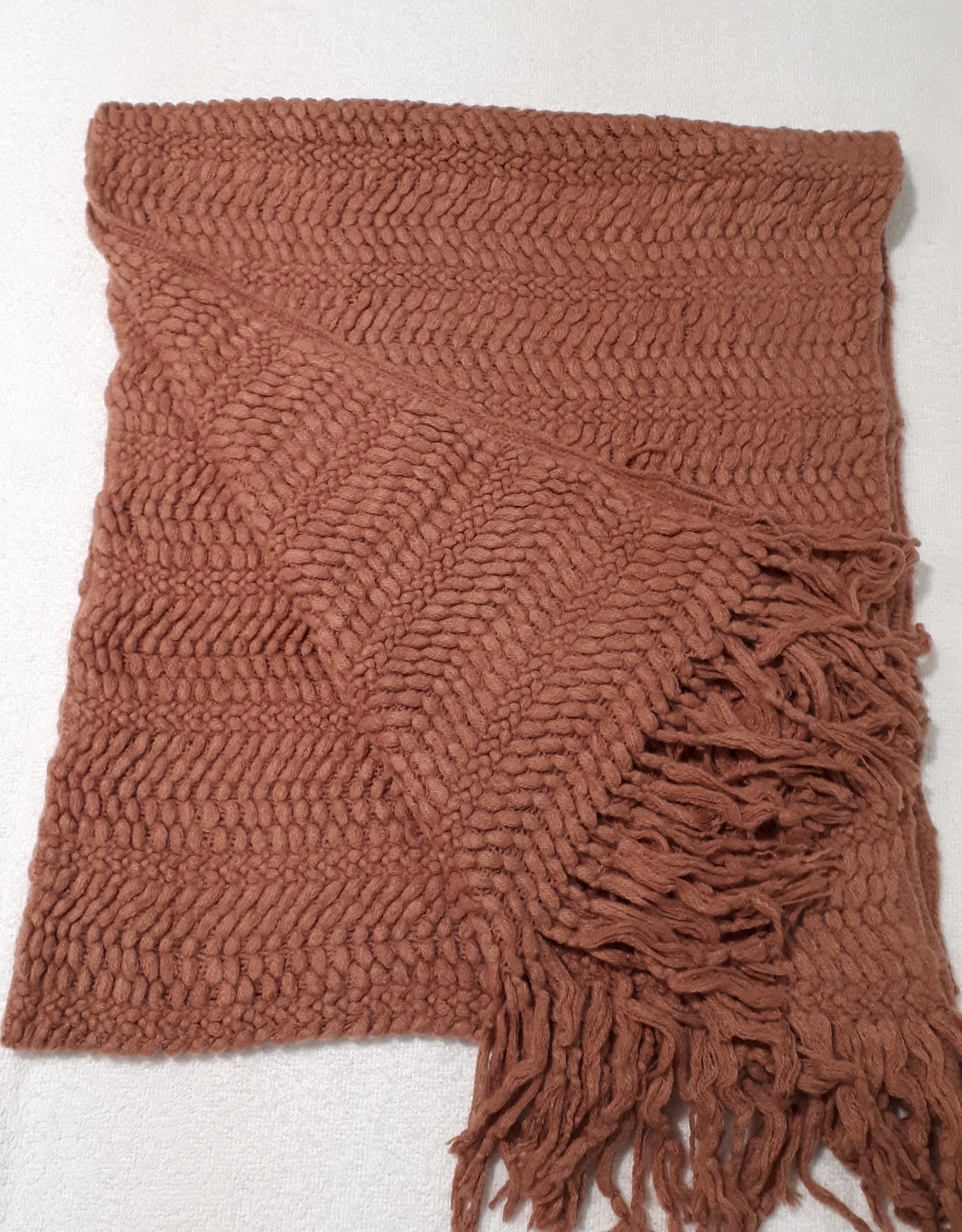 C&S  Rust brown scarf
