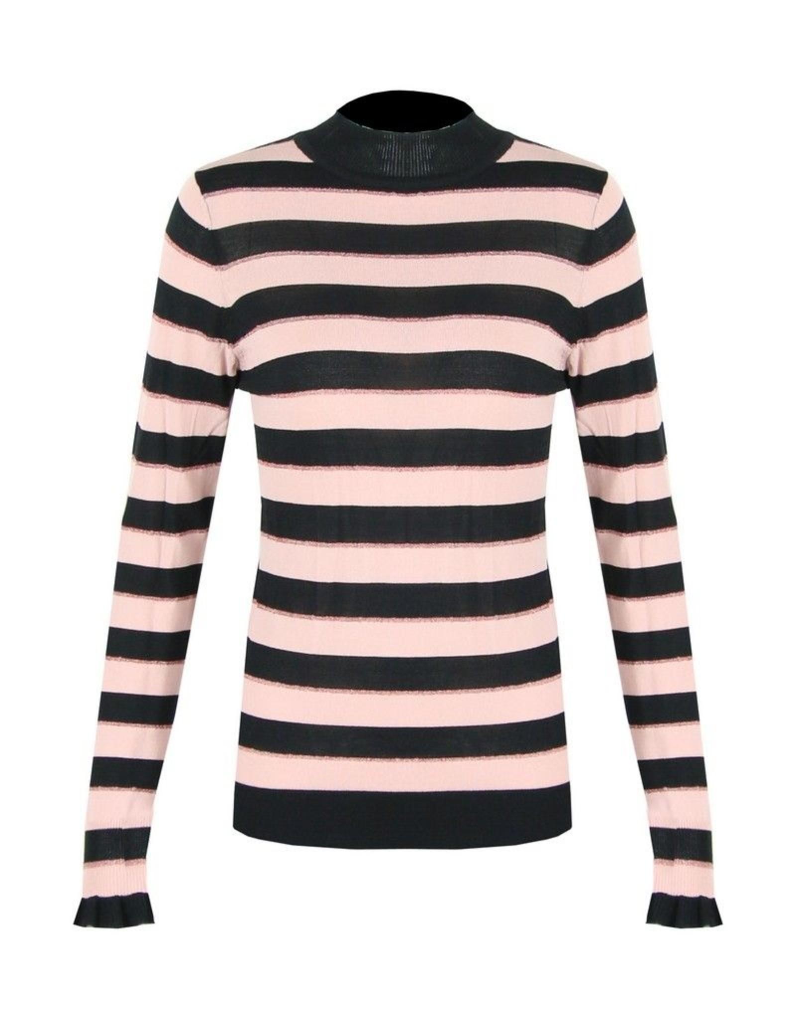 C&S  Sweater Light Pink Striped