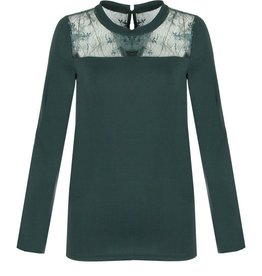 C&S Top Green with Lace