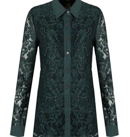C&S Blouse Dark Green With Lace