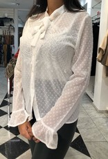 C&S Blouse Met Kant en Stippen