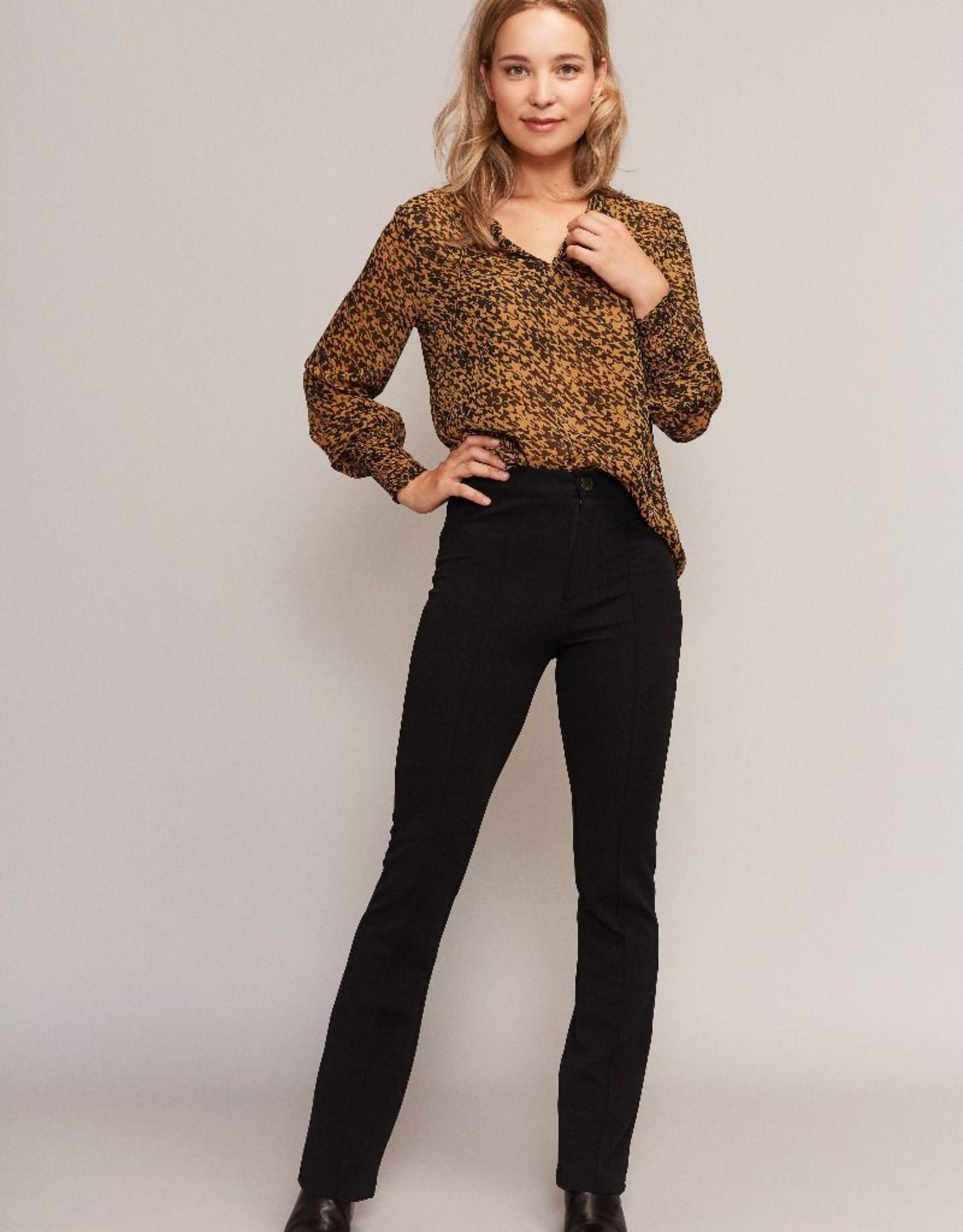 C&S  Blouse Ocher Yellow With Black