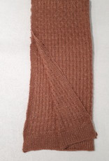 C&S Ladies Scarf Rust Brown with Glitters  105 x 58 cm