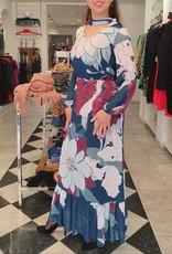 XT Studio Midi Dress with Multicolor Floral Design 20SS588