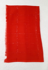 About accessories Sjaal Rood met Glitters 182 x 70 cm