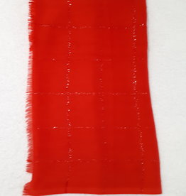 About accessories Scarf Red with Glitters 182 x 70 cm