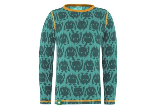 VOSSATASSAR Monster shirt merino wol - groen