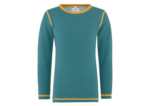VOSSATASSAR Solid shirt merino wol - groen