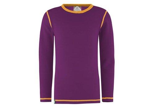 VOSSATASSAR Solid shirt merino wol - paars