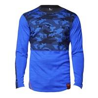 Camo shirt merino wol – koningsblauw