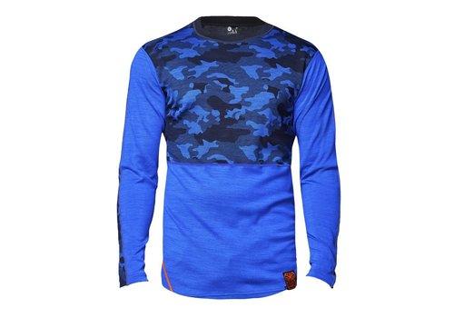 Bula Camo shirt merino wol – koningsblauw