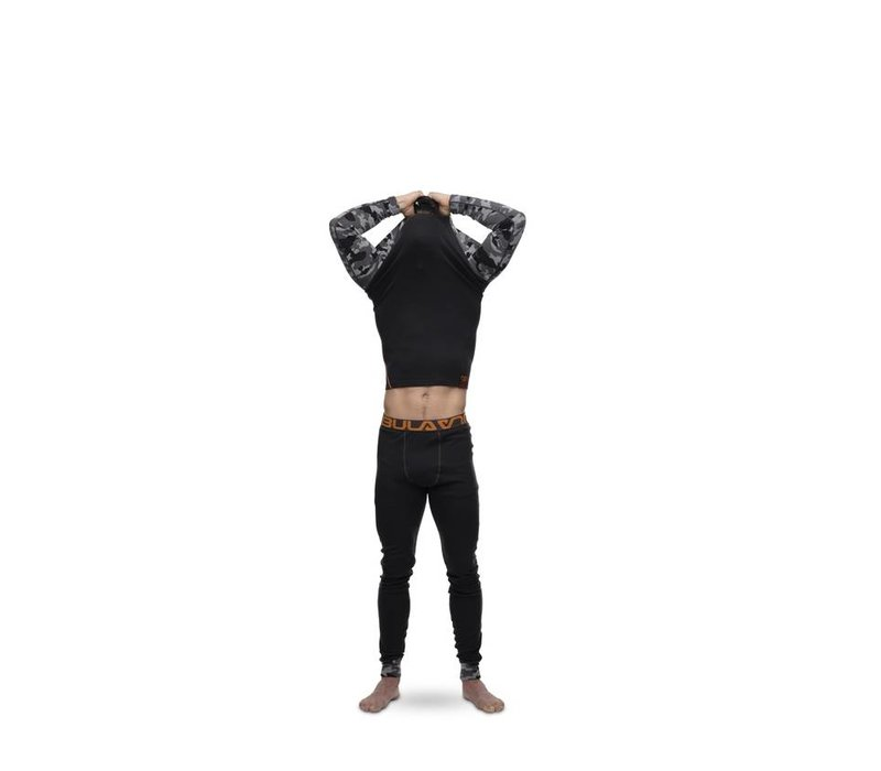 Camo legging merino wol – donker grijs