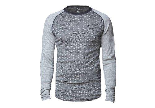 Bula Geo shirt merino wol – grijs