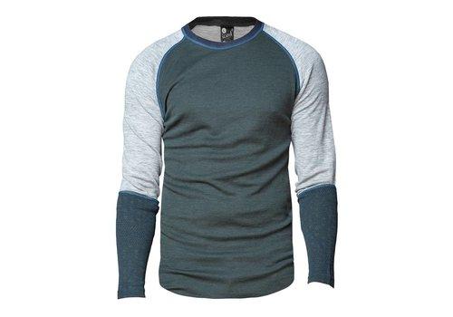 Bula Geo Crew shirt merino wol – olijfgroen