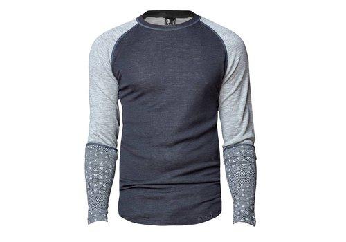 Bula Geo Crew shirt merino wol – grijs