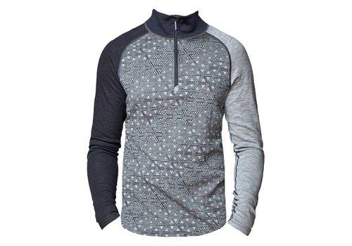 Bula Geo Zip shirt merino wol – grijs