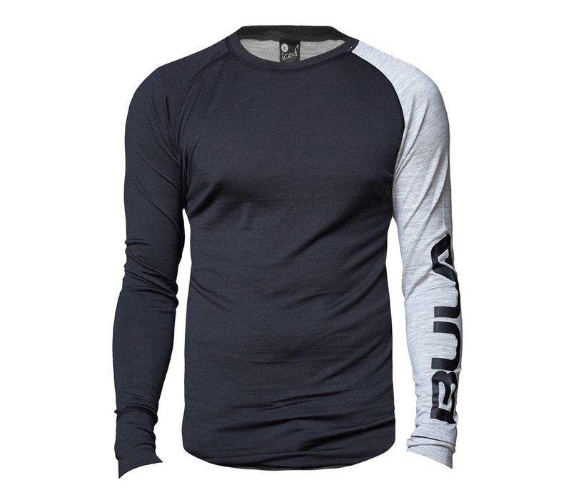 Attitude shirt merino wol – grijs