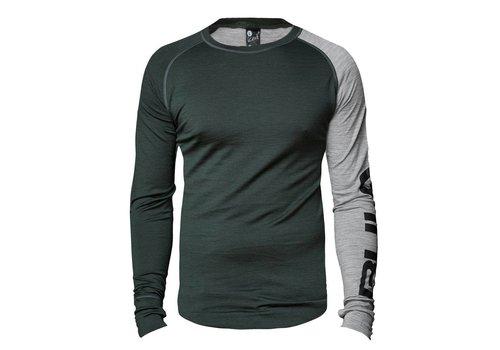 Bula Attitude shirt merino wol – olijfgroen