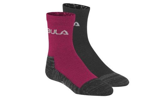 Bula Sokken in wolmix jr (2 paar) – donker roze