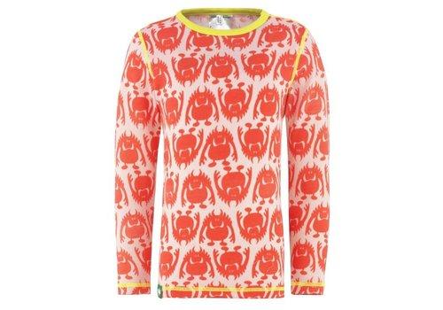 VOSSATASSAR Monster shirt merino wol - roze