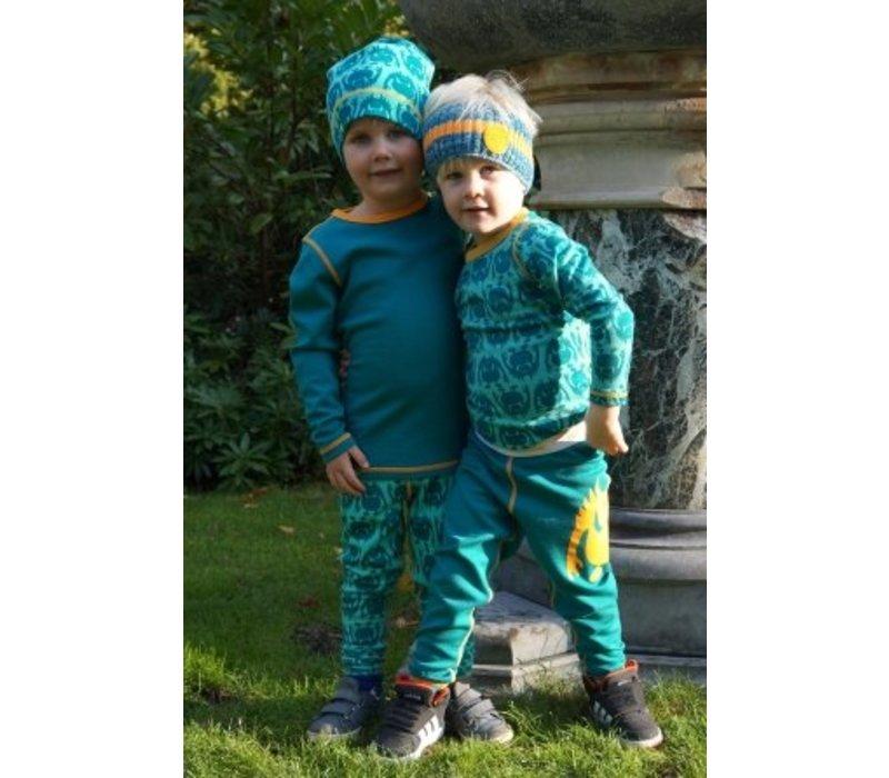 Solid legging merino wol - groen